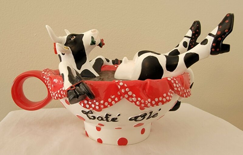 Cow Parade #7775 Cafe Ole 2009 Rare