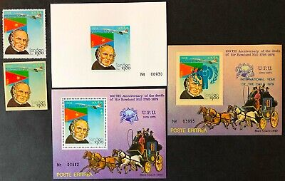 Eritrea 1980 Concorde/Sir Rowland Hill/London 80 Issues MNH