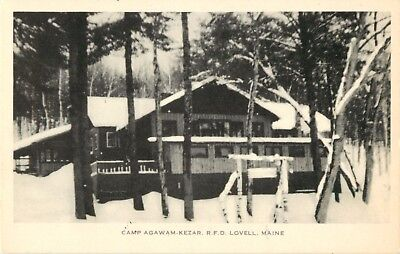 A View Of Camp Agawam   Kezar  Lovell  Maine Me