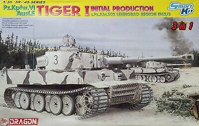1/35 Dragon 6600: Tiger I Initial Production PzKpfw.VI Ausf.E Tank Initial Production Tank