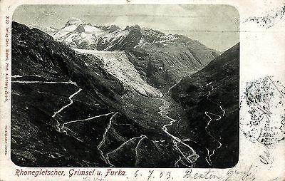Rhonegletscher, Grimsel und Furka, 1903