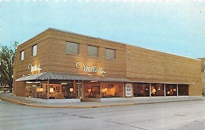 For sale Kewaskum WI Dusk @ Miller's Furniture Store~Window Displays, Floor Lamps Lighted