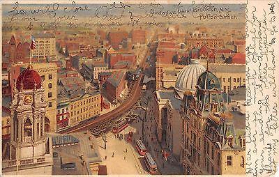 1906? Bird's Eye View Fulton St. Brooklyn NY post card Koehler