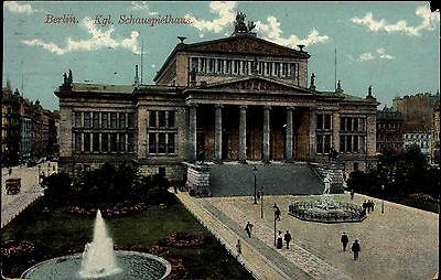 Berlin alte Ansichtskarte 1913 Königliches Schauspielthaus Theater Oper Postcard