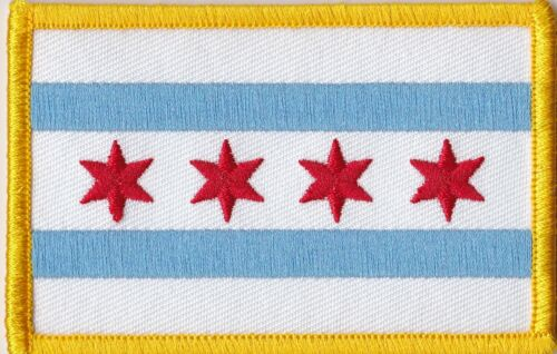 CHICAGO FLAG - SEW ON PATCH