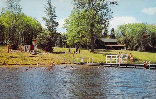 PA Forksville CAMP BRULE Boy Scouts of America Swimming Life Guard postcard BS3