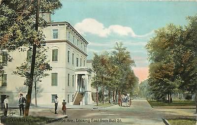 Georgia, GA, Savannah, Oglethorpe AV 1910's Postcard