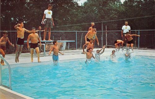 Rodney Scout Reservation Swimming Pool  BOY SCOUTS OF AMERICA postcard BS1