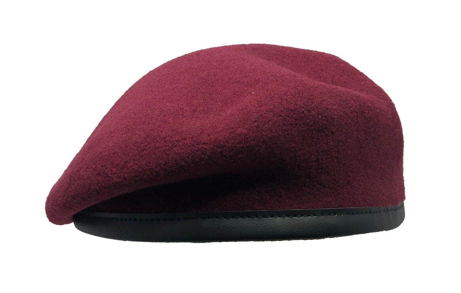 Laulh/ère Hats Merino Wool French Military Beret Black