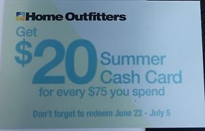 Home outfitters cash card