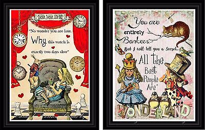 Alice in Wonderland wall art children's decor - Alice In Wonderland Decor