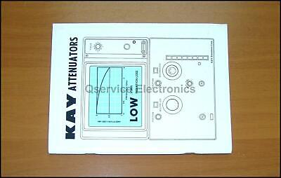 Kay Attenuators Rotary In-line Programmable Reference Manual Dec 1985 Issue E