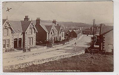 STATION ROAD, NEWTON STEWART: Wigtownshire postcard (C13454)