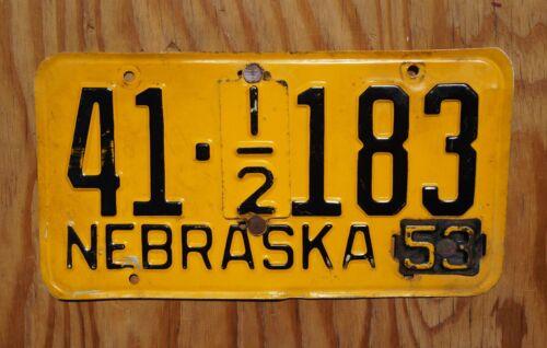 1953 POLK County Nebraska License Plate # 41 - 183