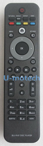 New Usbrmt Remote For Philips Blu-ray Player Bdp5005 Bd-p3306 Bd-p7520 Bdp5406