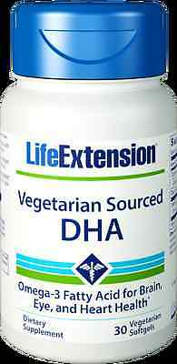 (Life Extension Vegetarian Sourced DHA Fatty Acid for Brain - 200 mg, 30 Softgels)