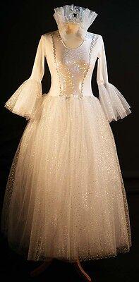 WHITE Fairy Godmother-Cinderella-Panto-Ice Princess-Snow Queen All - Fairy Queen Kostüm