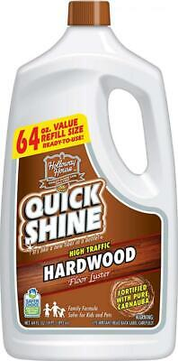 Quick Shine High Traffic Hardwood Floor Luster and Polish, 64 oz. Refill Bottle  ()