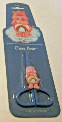 Vintage 1984 Care Bears CHEER scissors, packaged in original card