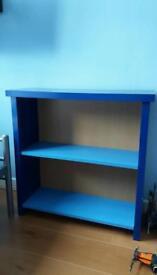 Blue shelve