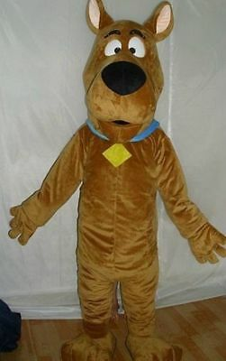 scooby-doo dog brown Mascot Costume cosplay Adult Suit fancy dress - Scooby Doo Costume Adult