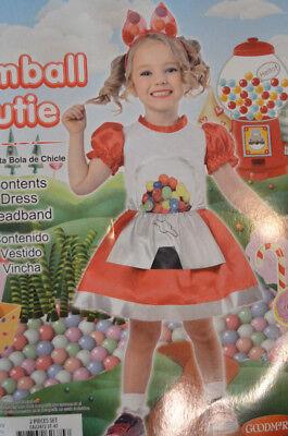 Baby Girl Halloween Gumball Cutie Dress 2 Pc Costume Oufit Size 3T-4T - Gumball Halloween Costume