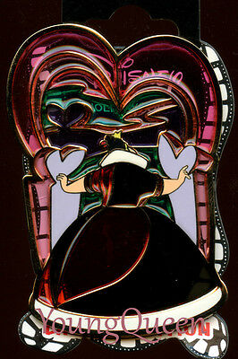 DSSH Disney Alice Wonderland Queen of Hearts Villain Stained Glass Le 200 Pin