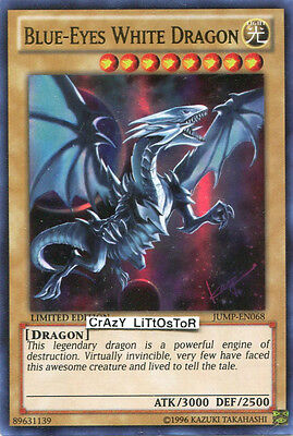 YU-GI-OH BLUE-EYES WHITE DRAGON LIMITED ULTRA RARE MINT JUMP-EN068