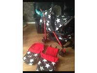 Cosatto All Stars Shuffle Tandem Double Pushchair