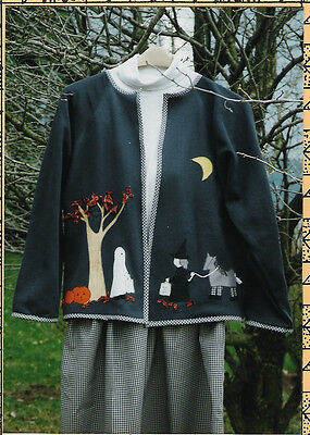 Halloween Night jacket and skirt quilt pattern by Nancy Dever of Nancy's Cut Ups