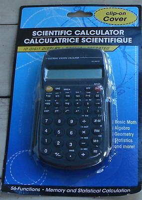 NEW IN PACKAGE Battery Operated Hand Held Scientific Calculator, Grey Accent