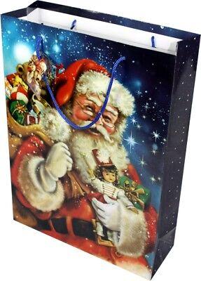 30 große Weihnachtstüten Geschenktüten für Weihnachten Geschenktaschen blau ()