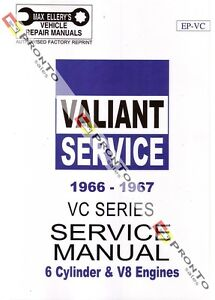MAX-ELLERYS-WORKSHOP-REPAIR-MANUAL-BOOK-CHRYSLER-VALIANT-VC-6CYL-V8-1966-1967