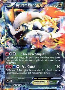 Kyurem blanc ex holo 180pv 103 149 neuf carte pokemon ebay - Carte pokemon kyurem blanc ex ...