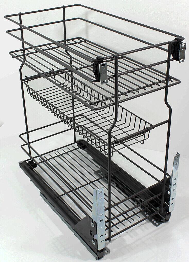 Anthrazit Korb Schrankauszug Küchenunterschrank für Unterschränk 20 30 50 60cm