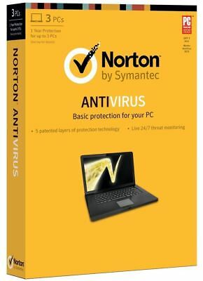 New Other Norton Antivirus Basic 2013 - 1 Year Subscription 3 Computers