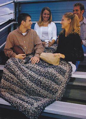 Crochet Pattern ~ STADIUM BLANKET AFGHAN ~ Instructions