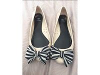 River island size 6 jelly shoes with fabric bows