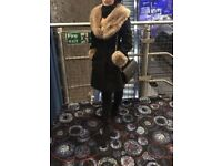 Miss Selfridge Black Fur Jacket