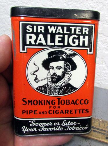 VINTAGE Sir Walter Raleigh tobacco pocket tin, Empty tin, great home decor item