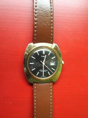 Vintage Mens Timex Automatic Watch Made in Great Britain 1976 Working