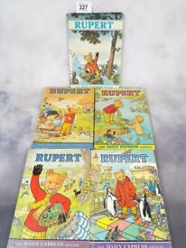 Vintage Rupert Annuals in fair quality 5x books....dates see description