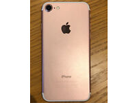 iPhone 7 128gb rose gold unlocked excellent condition