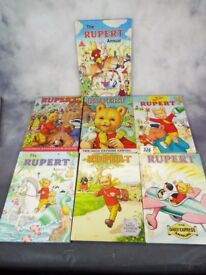 Vintage Rupert Annuals in top quality 7x books....dates see description