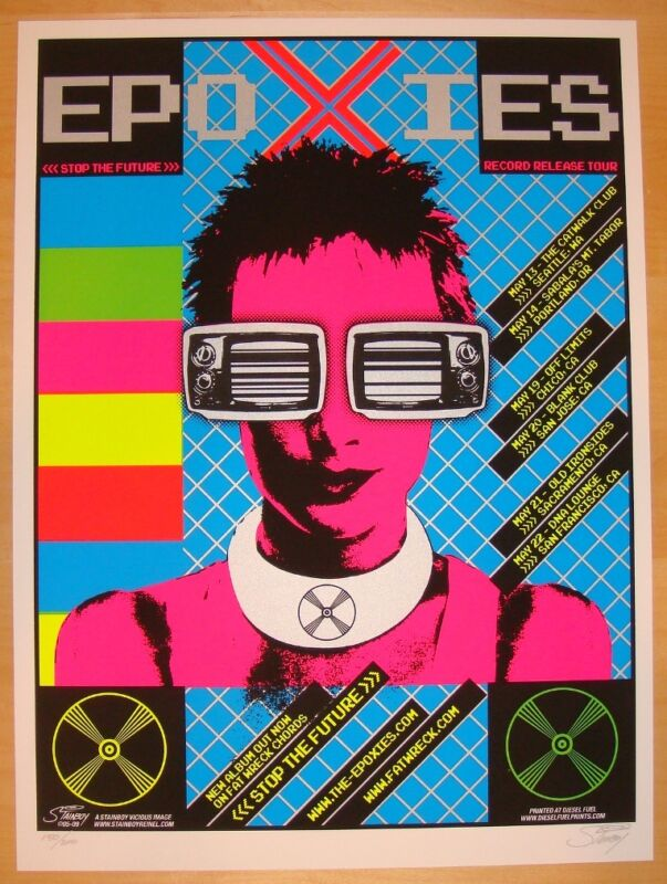 2005 The Epoxies - Silkscreen Tour Concert Poster s/n by Stainboy