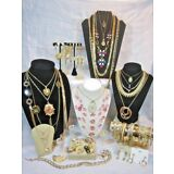 50 Piece Vintage to Mod GOLD TONE Jewelry Lot - many signed