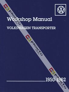 BENTLEY-WORKSHOP-REPAIR-MANUAL-VOLKSWAGON-TRANSPORTER-VW-KOMBI-VAN-1950-1962