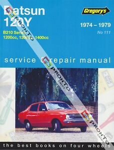 GREGORYS WORKSHOP SERVICE REPAIR MANUAL BOOK DATSUN 120Y 120 Y B210 1974-1979