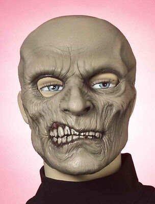 SMILEY ZOMBIE LATEX FACE MASK WALKING DEAD HALLOWEEN COSTUME ACCESSORY