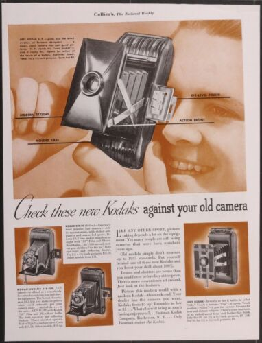 Vintage Magazine Ad 1935 Kodak Jiffy, Jiffy VP, Six-20, Junior Six-20